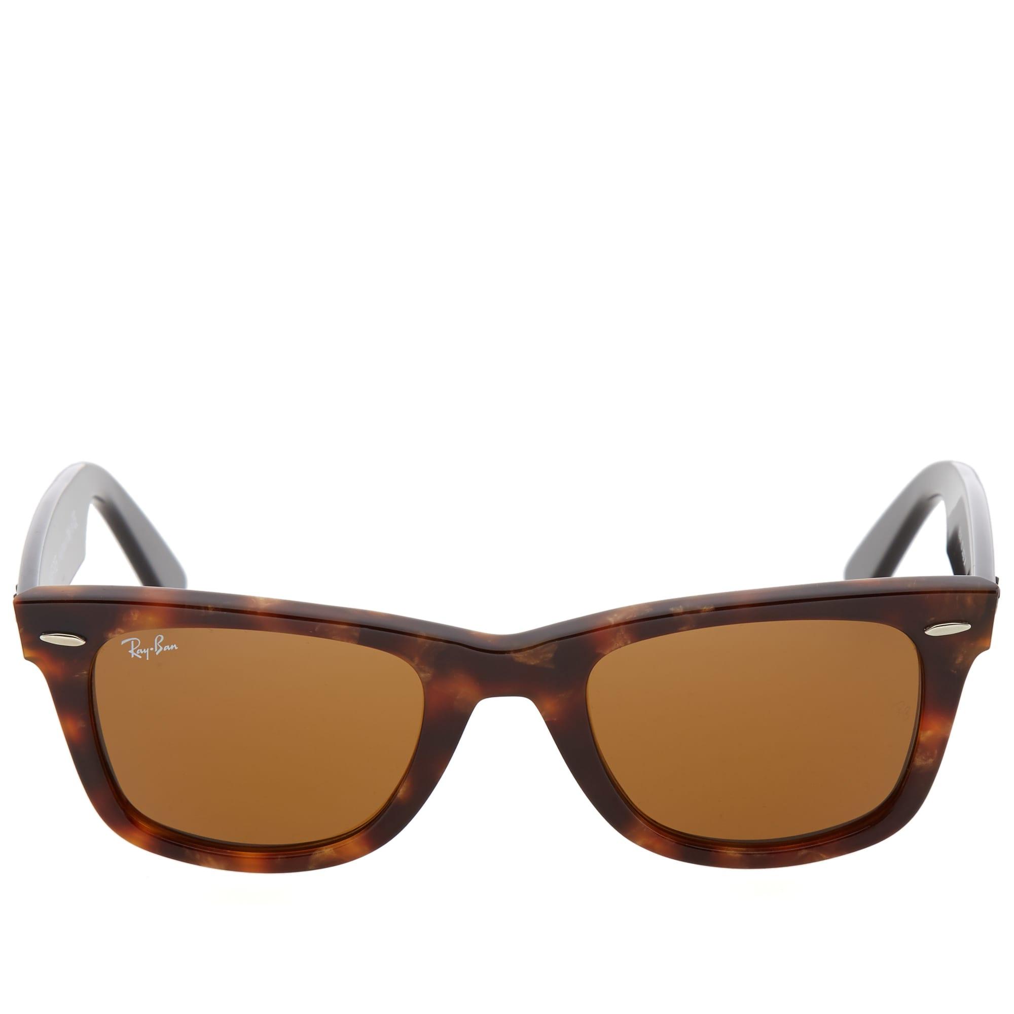 Ray Ban Original Wayfarer Fleck Sunglasses - Spotted Brown Havana & Brown