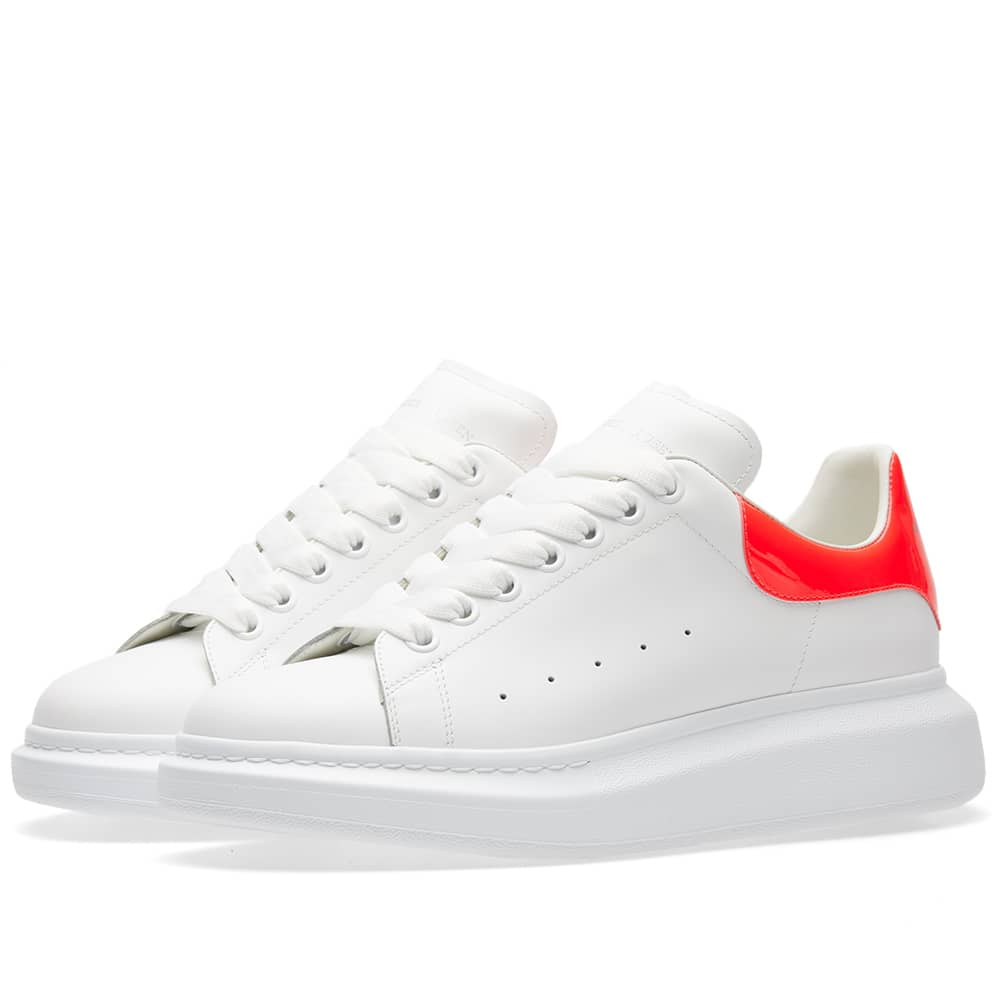 Alexander McQueen Wedge Sole Fluro Heel Tab Sneaker - Pink