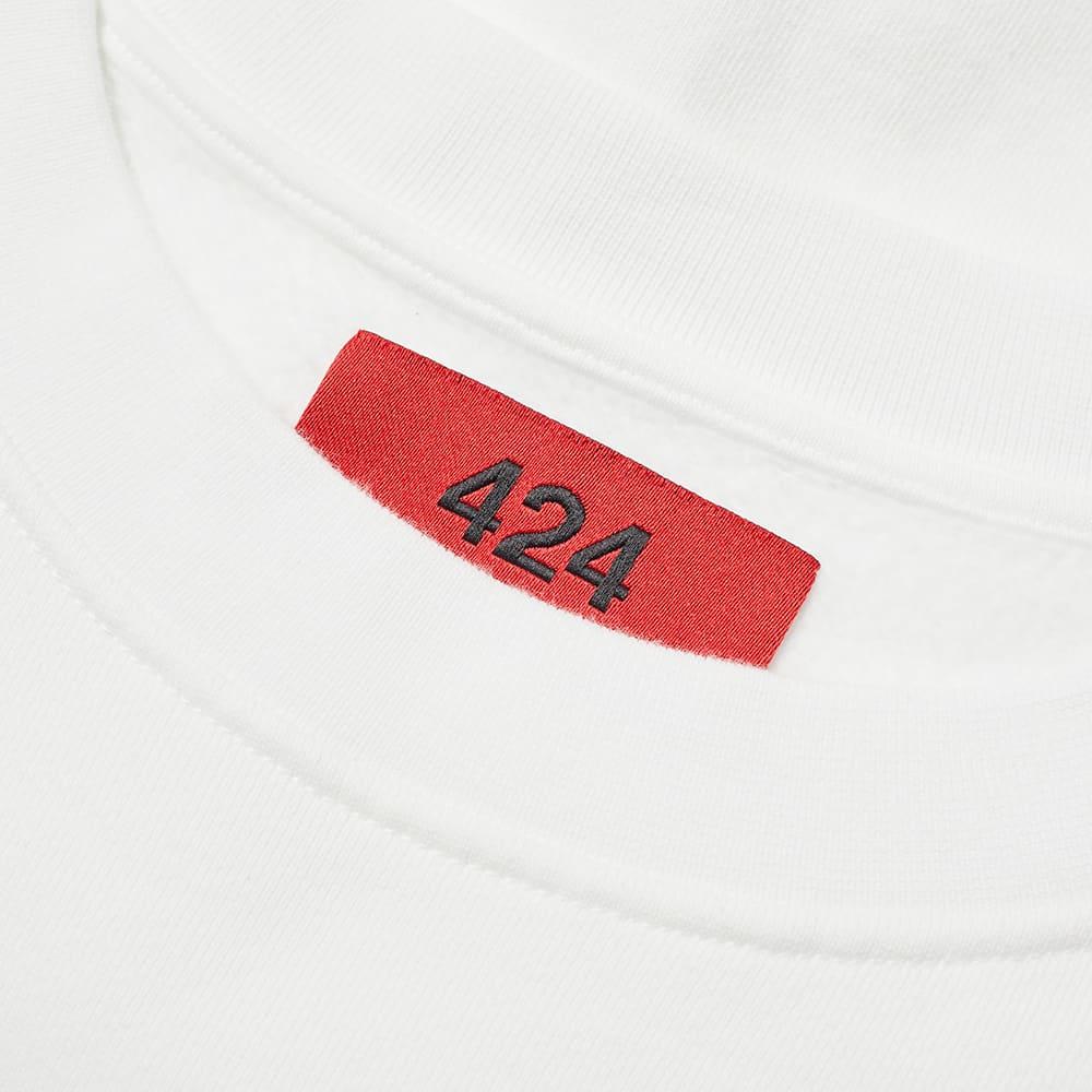 424 Box Logo Crew Sweat - White