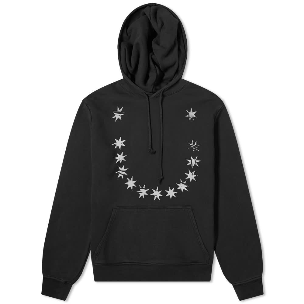 424 Star Print Hoody - Black