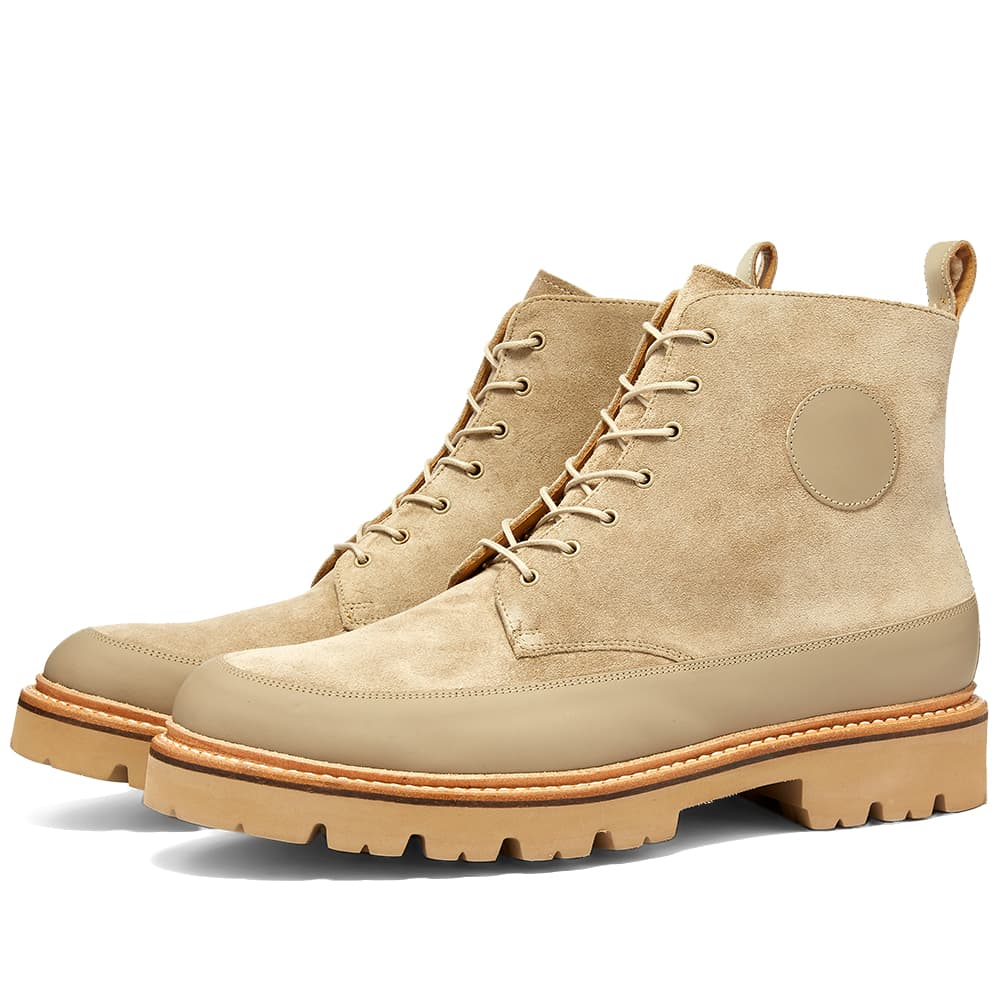 Grenson Anton Boot - Sand Rubberised & Pearl Suede