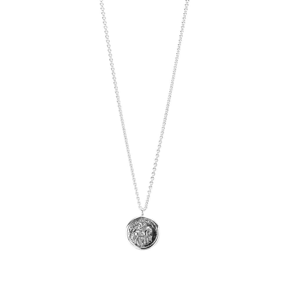 Tom Wood Coin Pendant - Silver