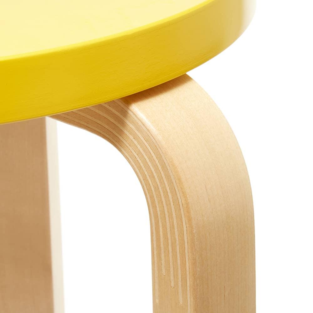 Artek Alvar Aalto 1933 Stool 60 - Lacquered Yellow