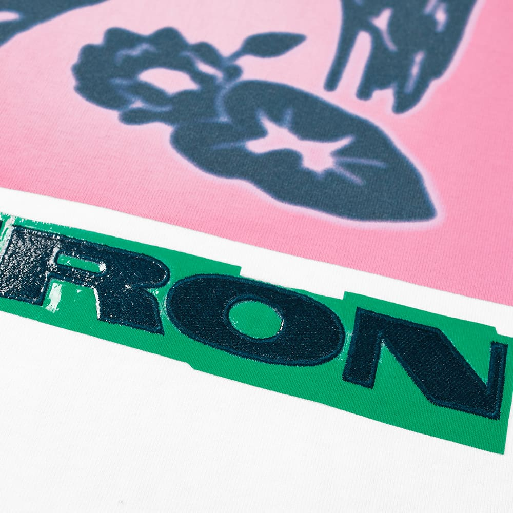 Heron Preston Heron Nightshift Oversized Tee - White & Pink