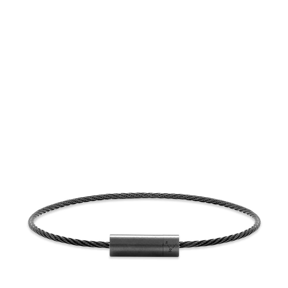 Le Gramme Brushed Ceramic Le Cable Bracelet - Black Ceramic 5g