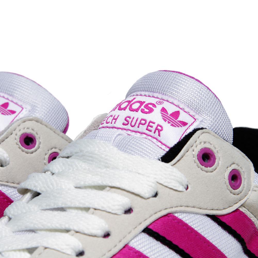 Adidas Tech Super - Running White & Vivid Pink