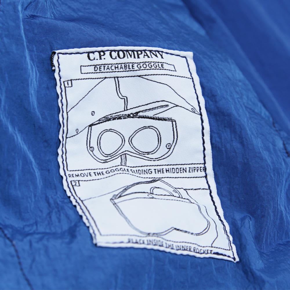 C.P. Company 4 Pocket Packable Goggle Jacket - Greek Blue