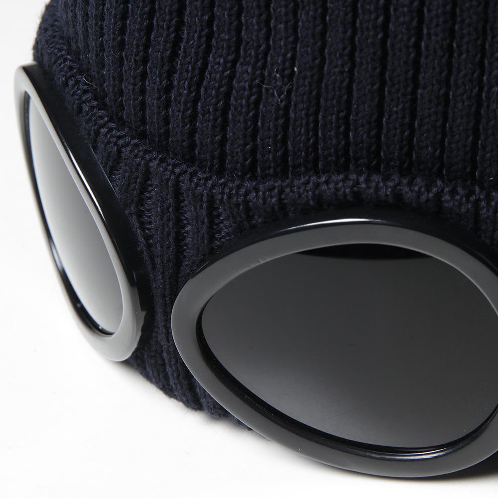 C.P. Company Goggle Beanie - Blue