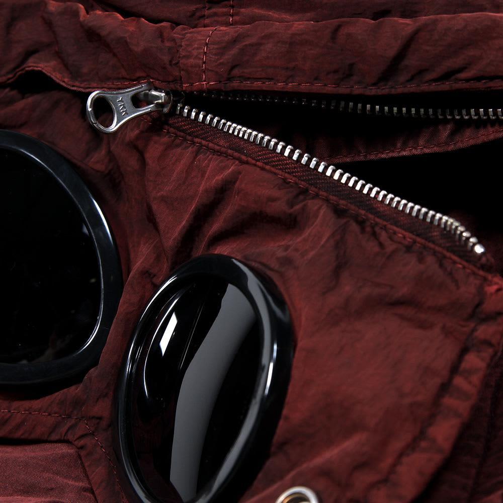 C.P. Company Garment Dyed Multi Pocket Goggle Jacket - Maroon