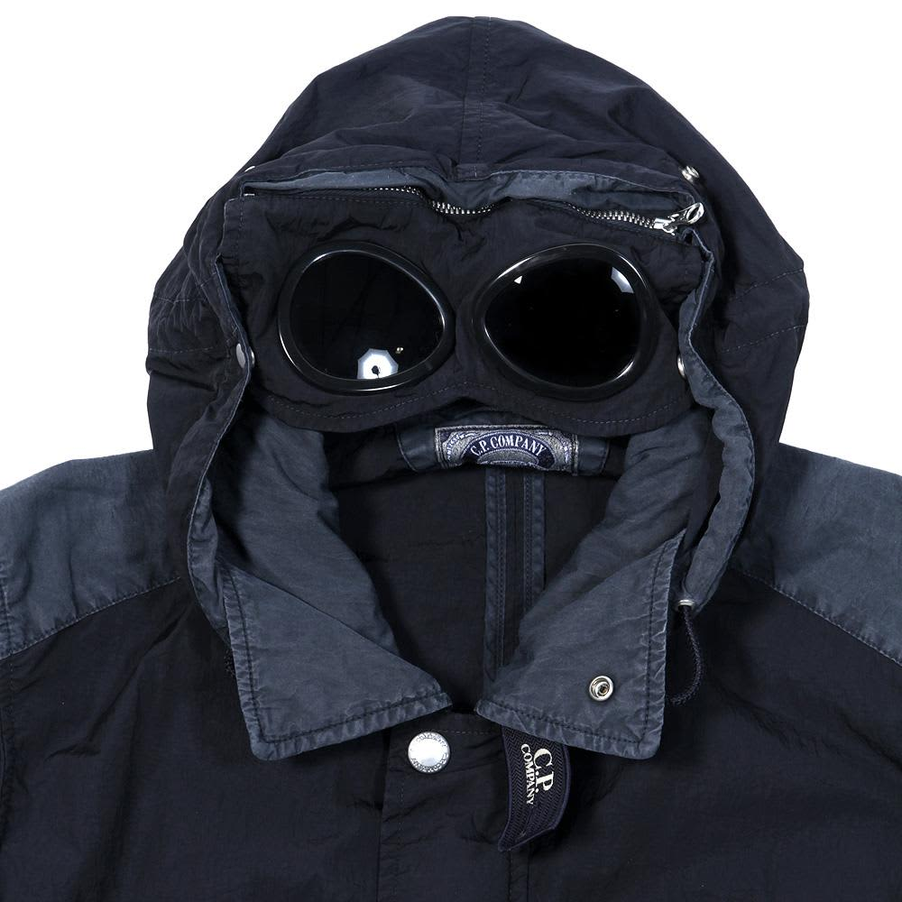 C.P. Company Garment Dyed Multi Pocket Goggle Jacket - Blue
