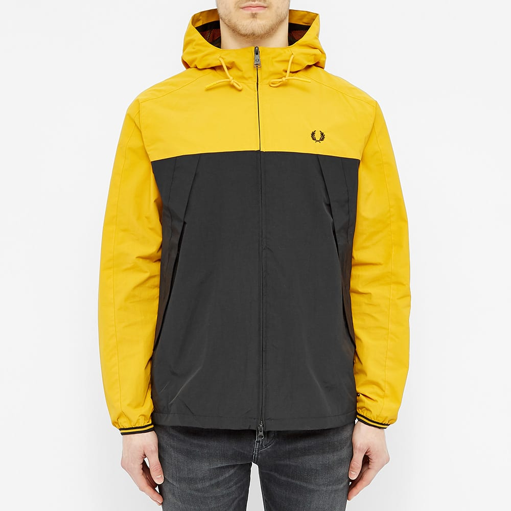 Fred Perry Colour Blocked Panelled Jacket - Gold