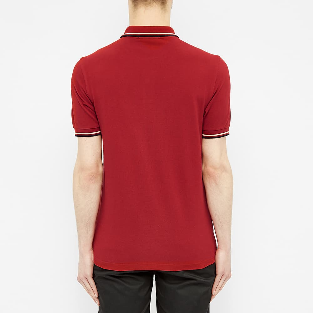 Fred Perry Slim Fit Twin Tipped Polo - Rich Red