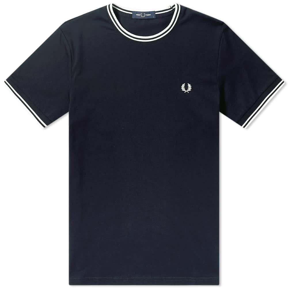 Fred Perry Twin Tipped Tee - Navy