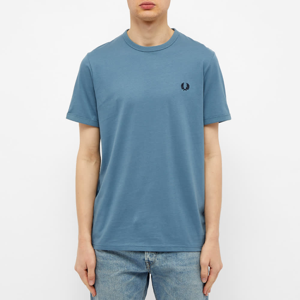 Fred Perry Ringer Tee - Blue Slate