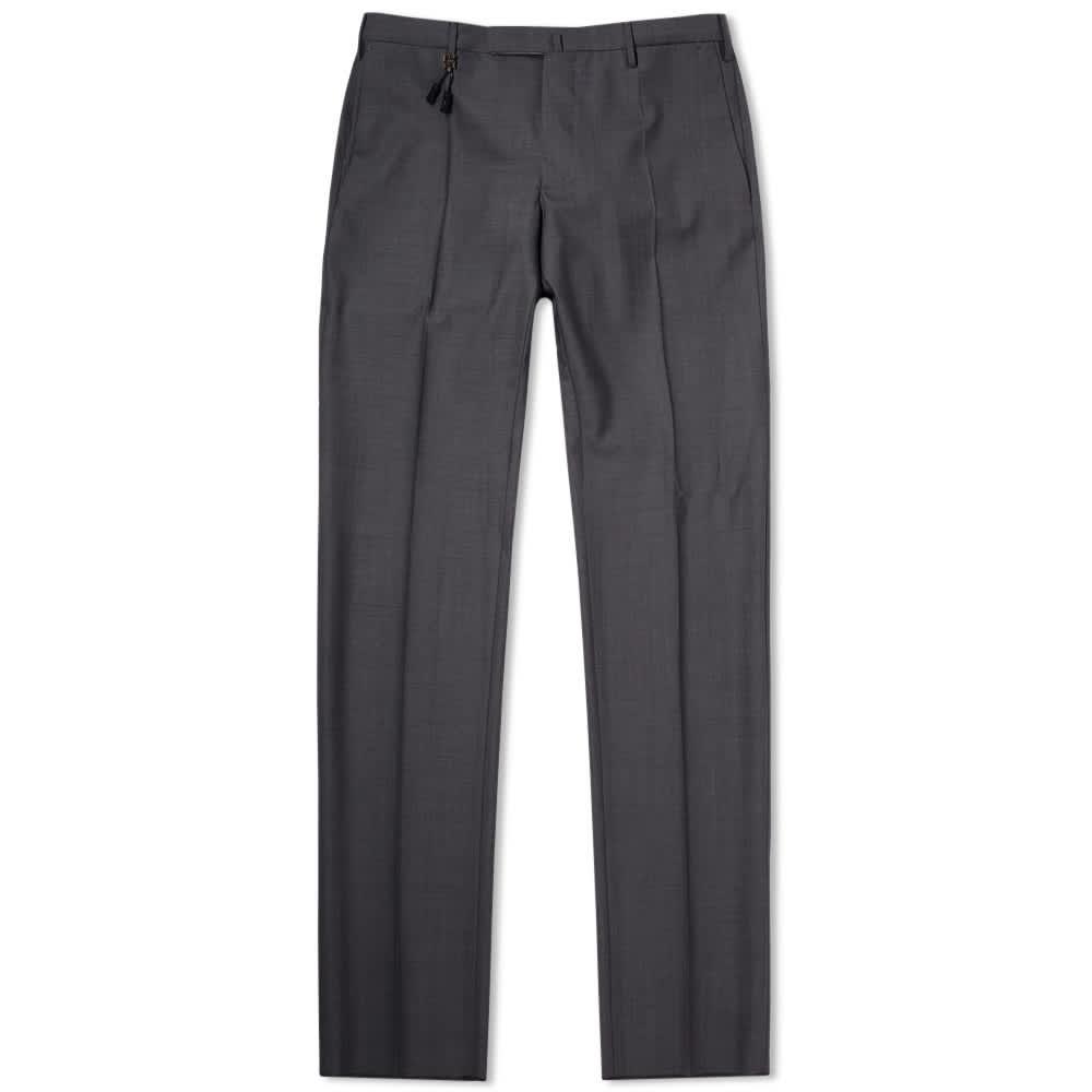 Incotex Slim Fit Super 130's Wool Trouser - Medium Grey