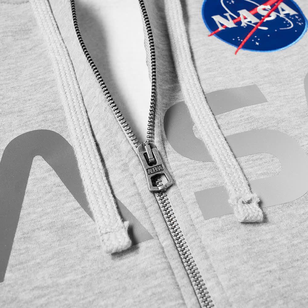Alpha Industries NASA Zip Hoody - Grey Heather