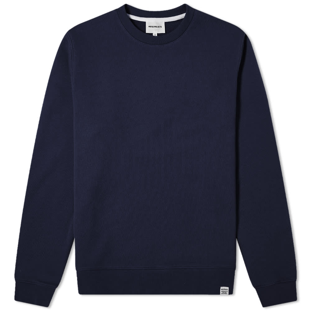 Norse Projects Vagn Classic Crew Sweat - Dark Navy