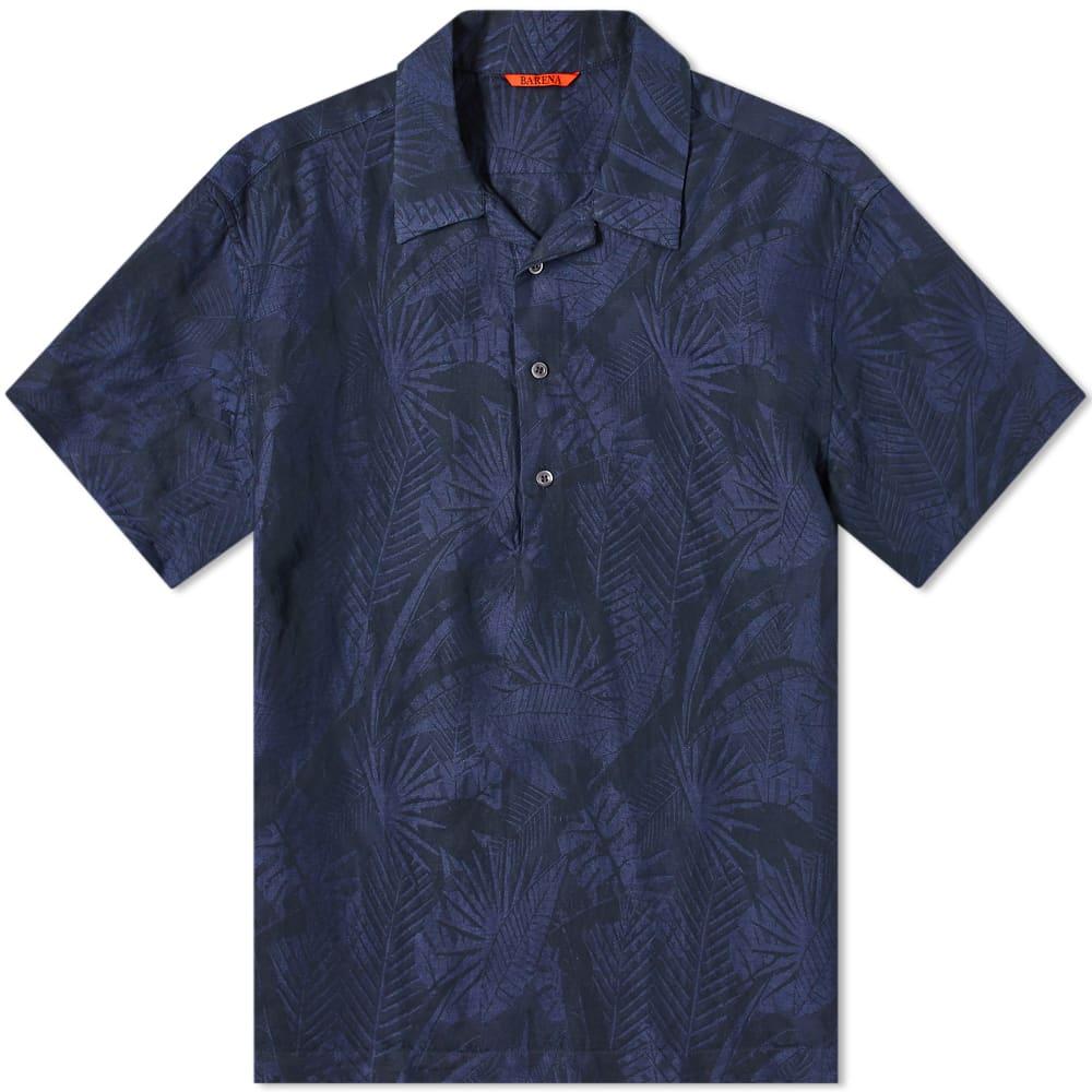 Barena Jacquard Vacation Shirt - Navy
