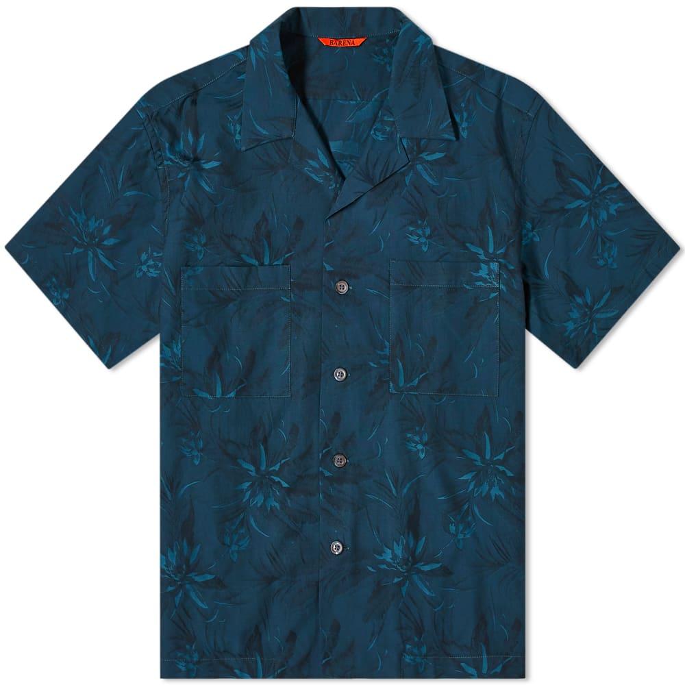 Barena Jacquard Vacation Shirt - Petrol