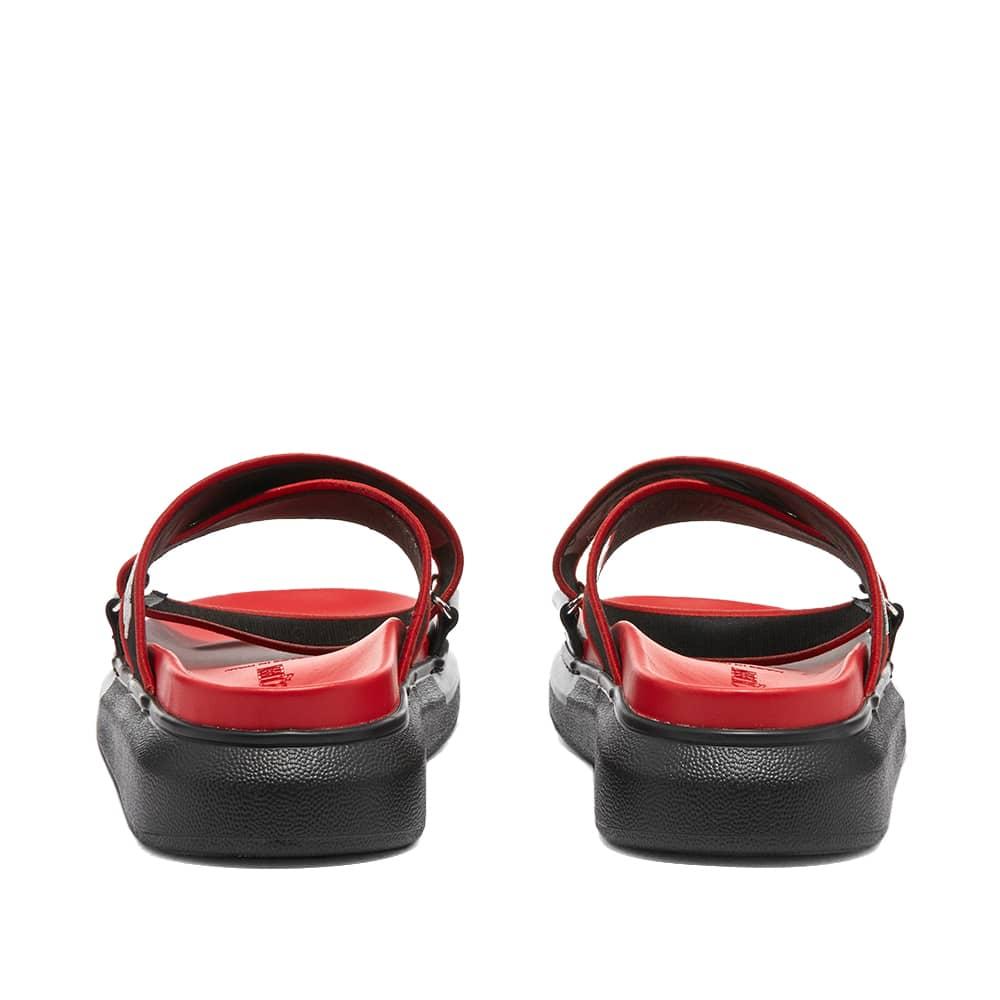Alexander McQueen Taped Logo Sandal - Black, Lush Red, White & Blue
