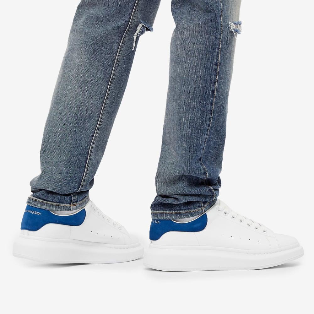Alexander McQueen Heel Tab Wedge Sole Sneaker - White & Navy