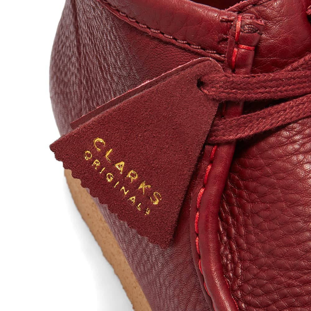 Clarks Originals x Sporty & Rich Wallabee Boot - Burgundy Leather