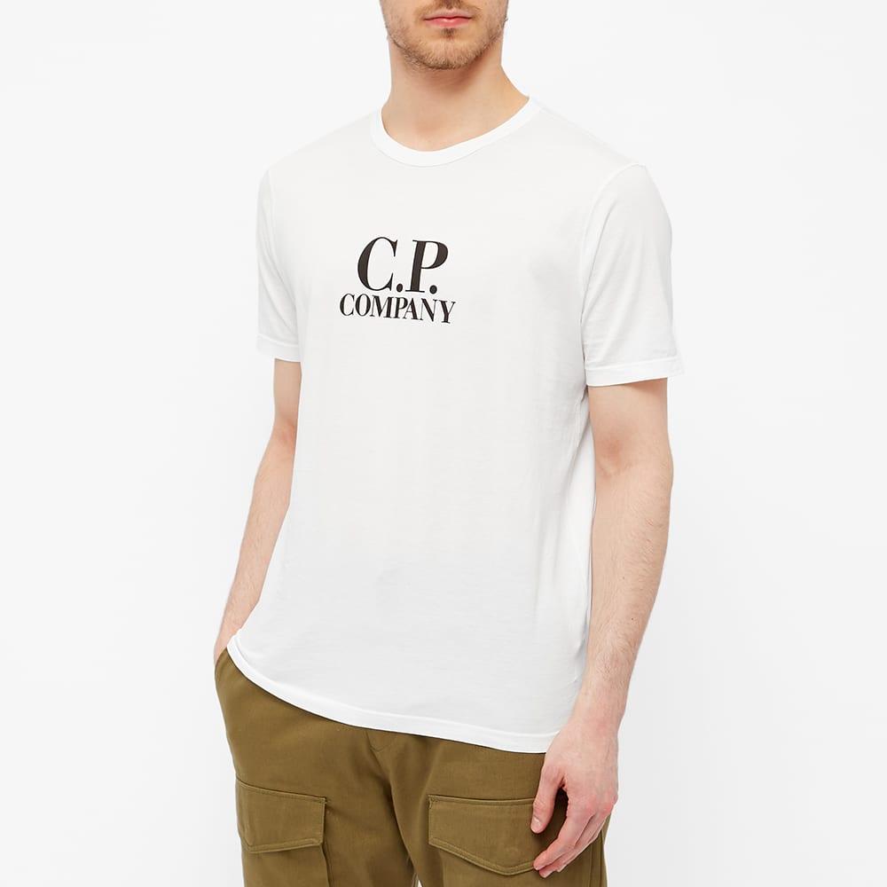 C.P. Company Big Logo Tee - Gauze White
