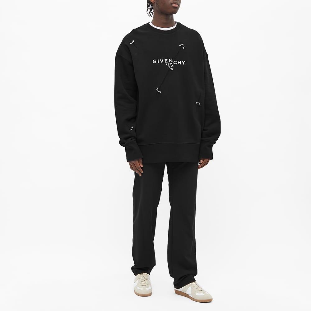 Givenchy Trompe L'Oeil Ring Crew Sweat - Black