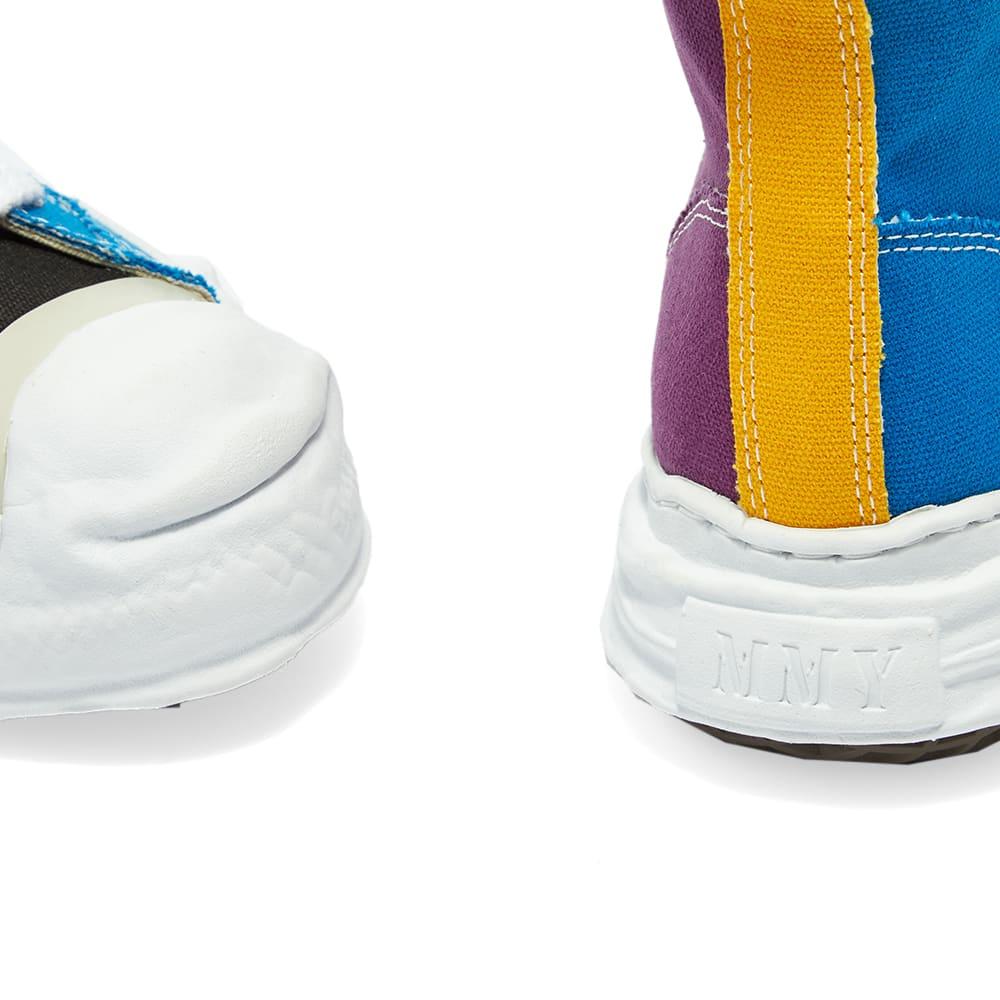 Maison MIHARA YASUHIRO Original Sole Toe Cap Sneaker Hi Canvas - Blue & Purple