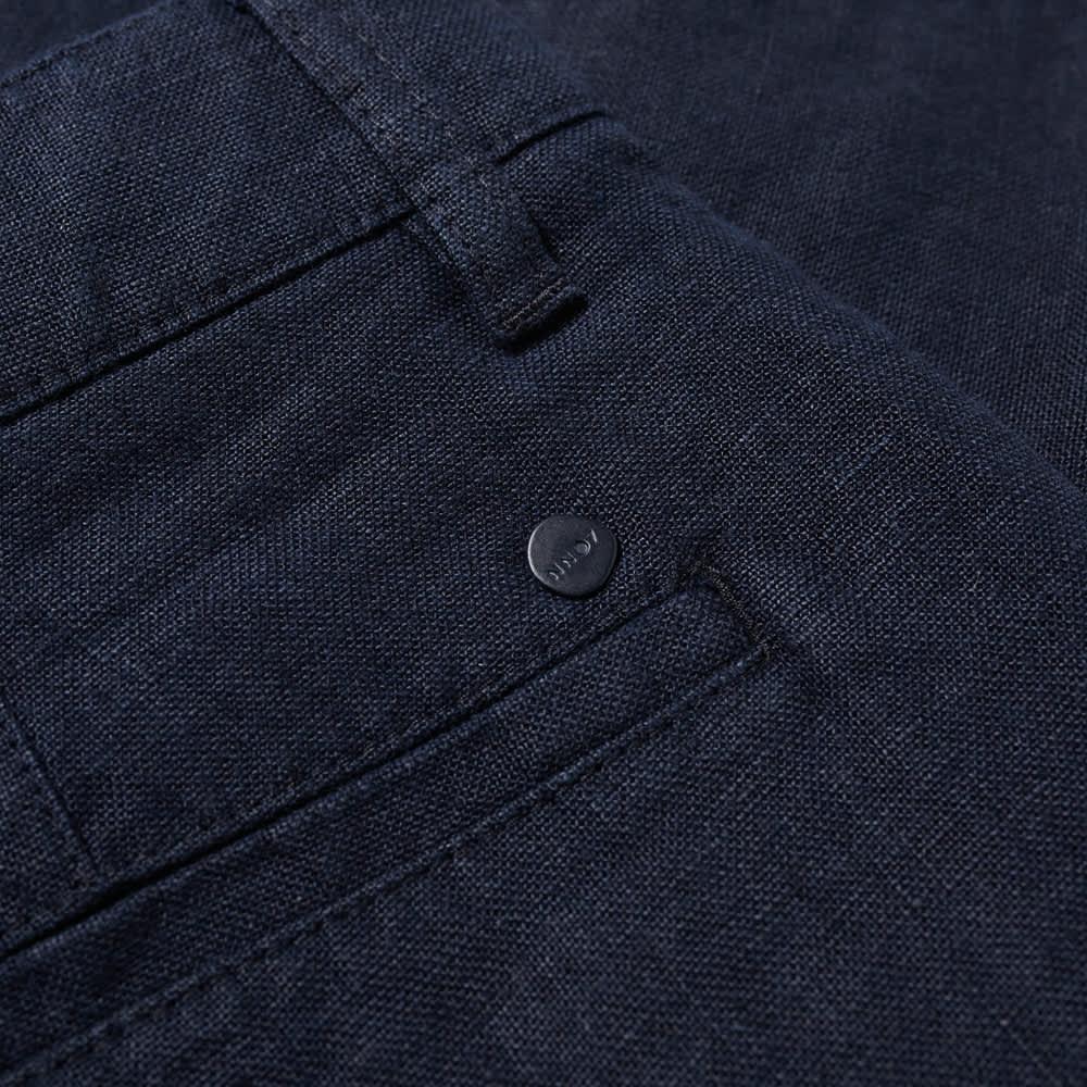 NN07 Crown Linen Short - Navy Blue