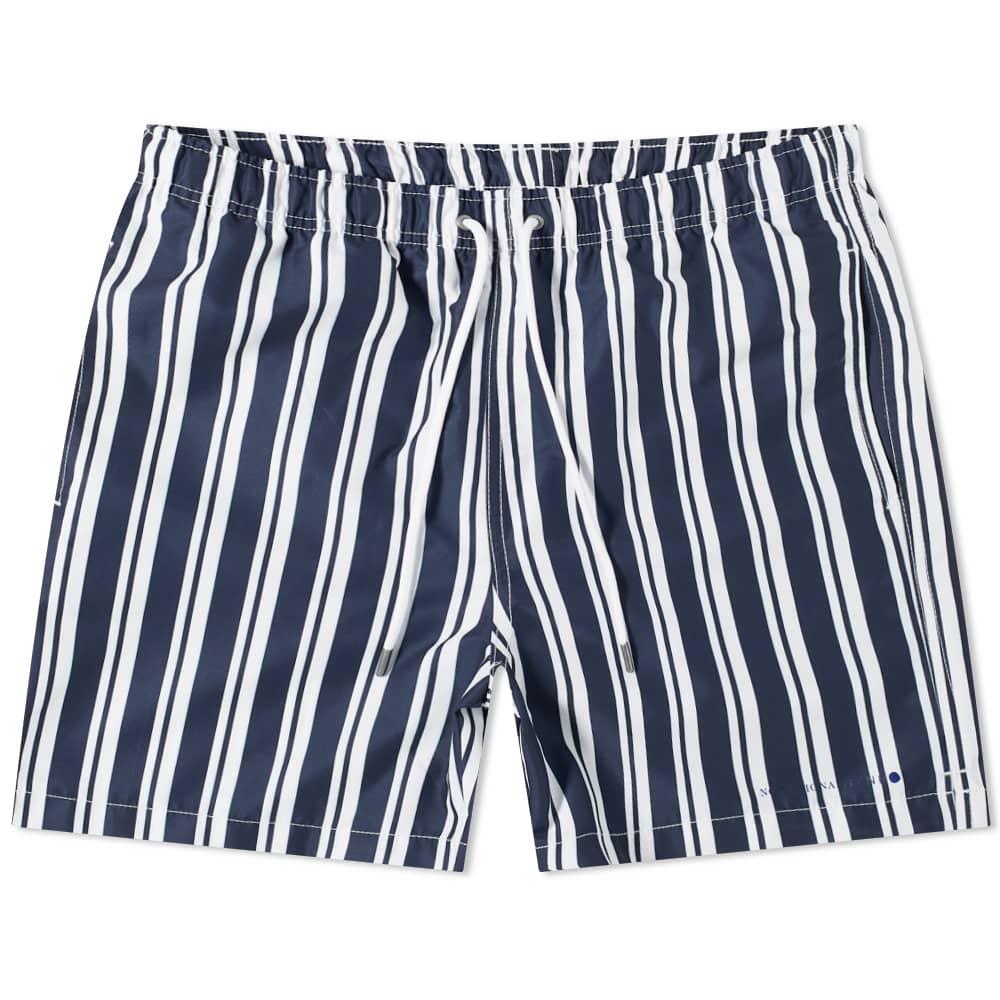 NN07 Jules Stripe Swim Short - Navy Stripe