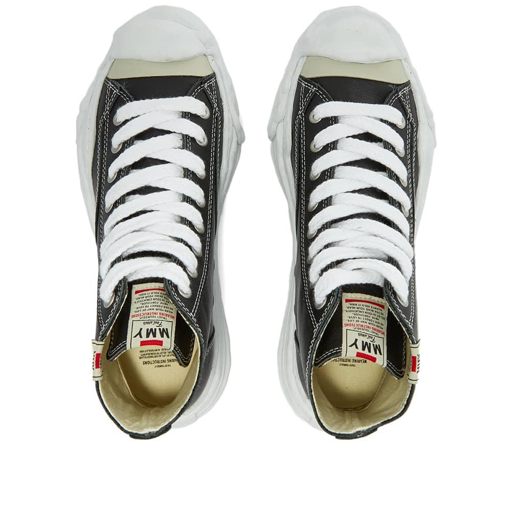 Maison MIHARA YASUHIRO Original Sole Toe Cap Sneaker Hi Leather - Black