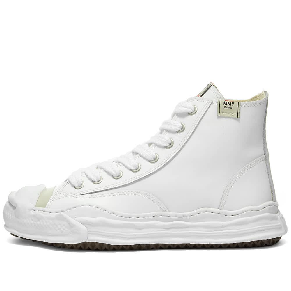 Maison MIHARA YASUHIRO Original Sole Toe Cap Sneaker Hi Leather - White