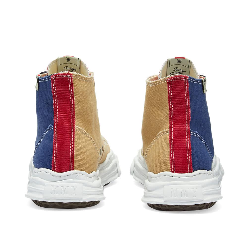 Maison MIHARA YASUHIRO Original Sole Toe Cap Hi Canvas Sneaker - Navy & Beige