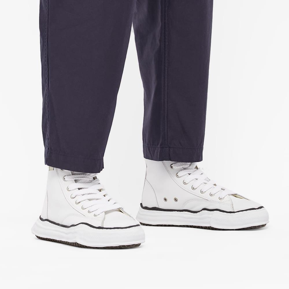 Maison MIHARA YASUHIRO Original Sole Leather Hi-Top Sneaker - White