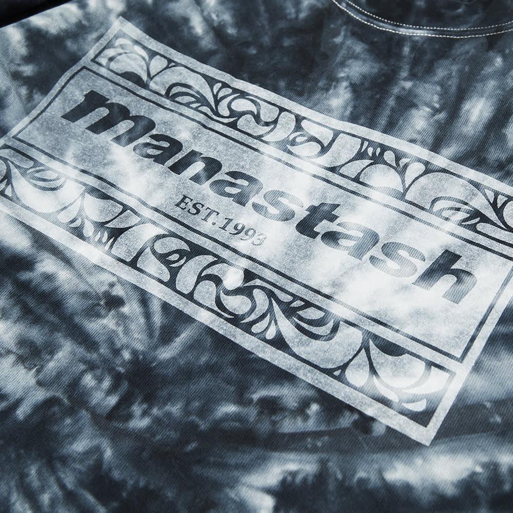 Manastash Tie Dye Leaf Logo Tee - Black