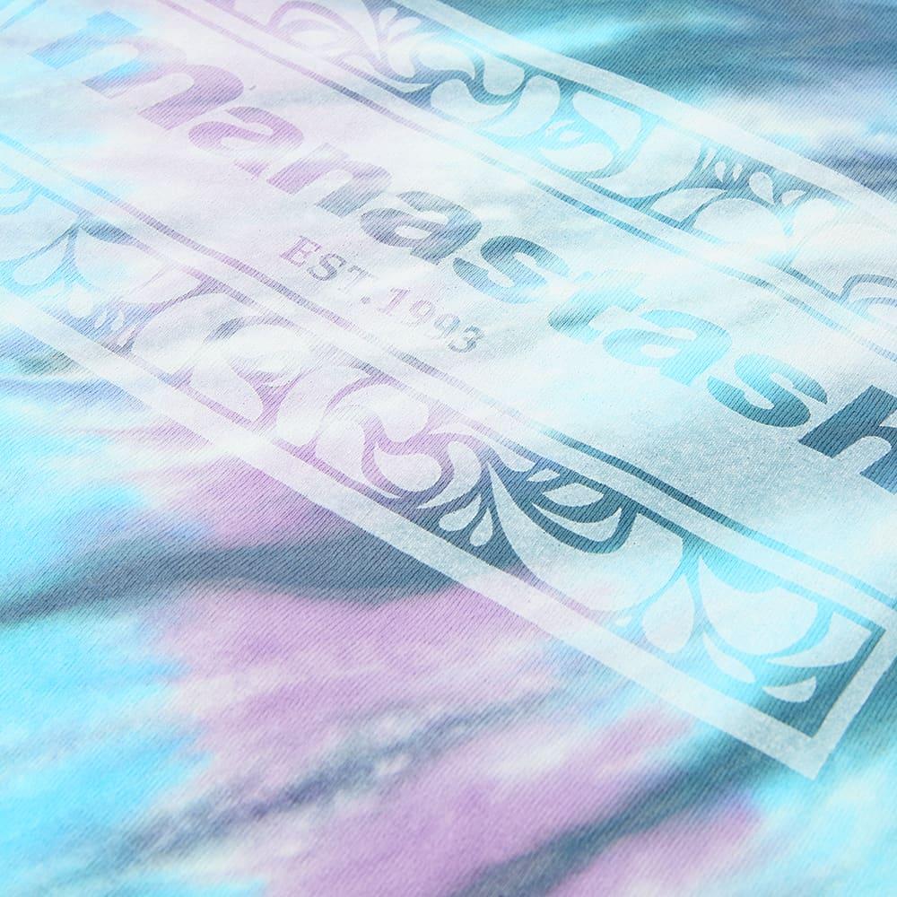 Manastash Tie Dye Leaf Logo Tee - Blue