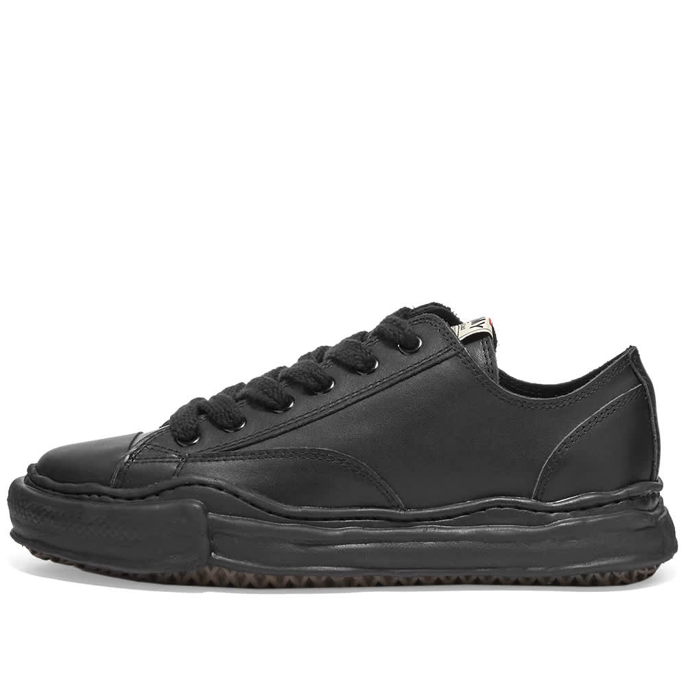 Maison MIHARA YASUHIRO Original Sole Leather Low-Top Sneaker - Black & Black