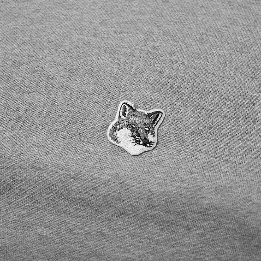 Maison Kitsuné Grey Fox Head Patch Classic Hoody - Grey Melange