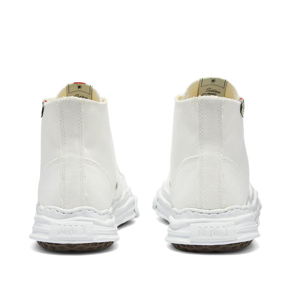 Maison MIHARA YASUHIRO Original Sole Toe Cap Hi Canvas Sneaker - White