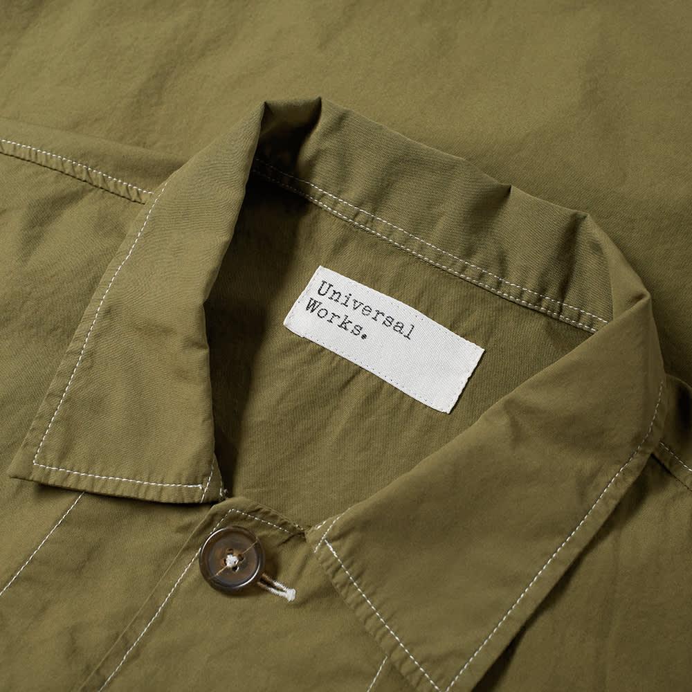 Universal Works Poplin Bakers Overshirt - Bright Olive