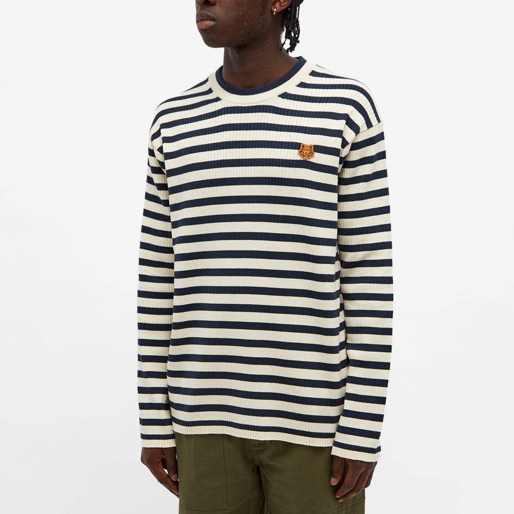 Kenzo Striped Crest Logo Jumper - Cream
