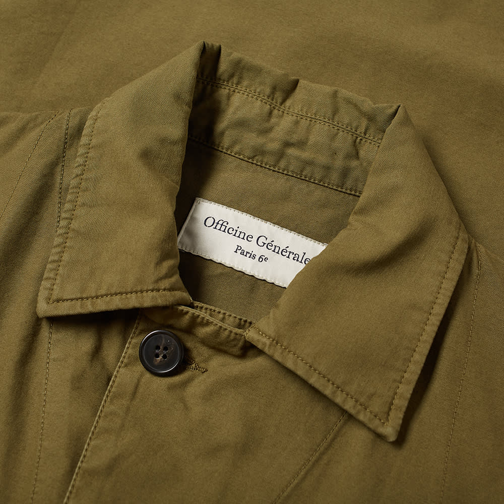 Officine Générale Swan Pigment Dyed Overshirt - Green Army