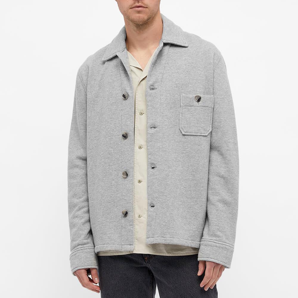 Officine Générale Sydney Japanese Cotton Overshirt - Heather Grey