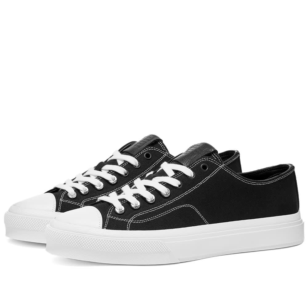 Givenchy City Low Canvas Sneaker - Black