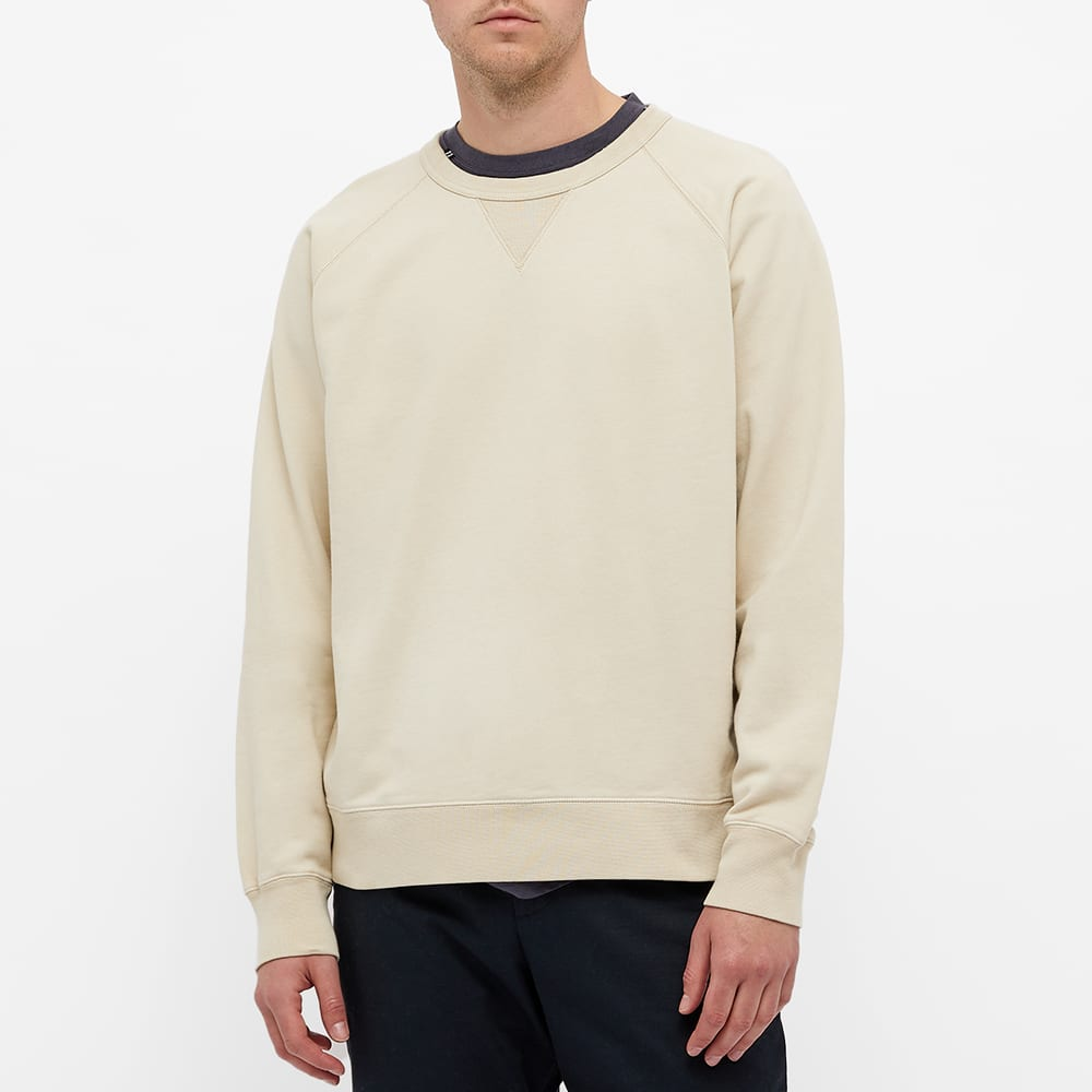 Norse Projects Kristian Garment Dyed Crew Sweat - Oatmeal