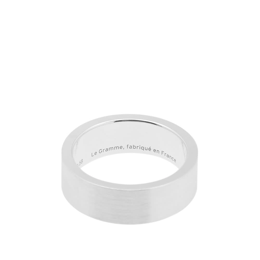 Le Gramme Brushed Ribbon Ring - Silver 9g
