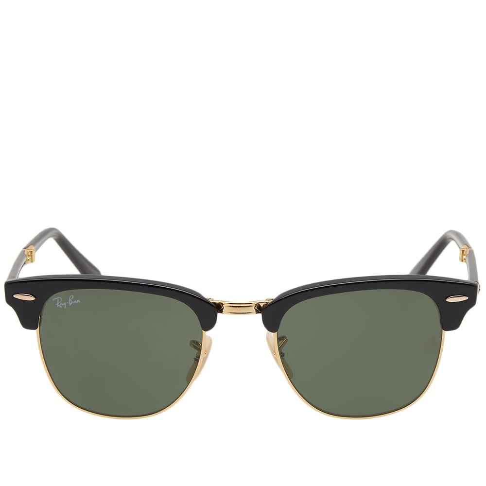 Ray Ban Clubmaster Folding Sun - Black & Green
