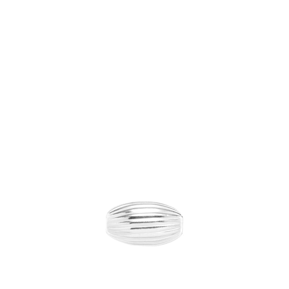 First Arrows Stripe Long Bead Spacer - Silver