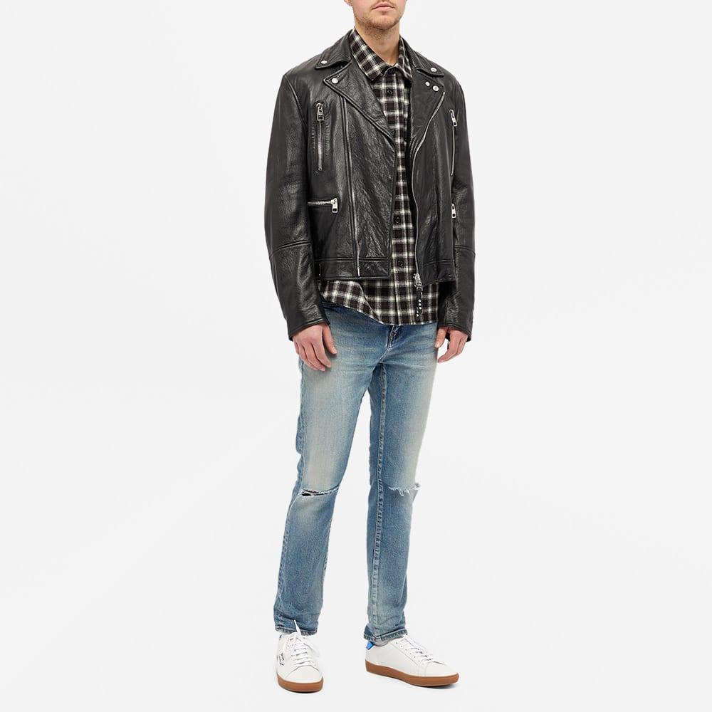 Saint Laurent Woven Check Shirt - Black & White